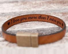 Boyfriend Gift for Boyfriend Anniversary Gift For Him Mens Hidden Secret Message Mens Leather Bracelet Personalized Birthday Gifts For Men