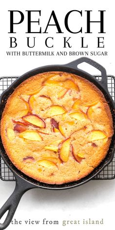Jeff's Writing - The Easiest Peach Buckle Recipe! - - - My classic Peach Buckle is made with buttermilk, brown sugar, and plenty of juicy ripe peaches, this easy summer dessert comes together in one bowl. Fruit Recipes, Sweet Recipes, Baking Recipes, Peach Recipes Easy, Recipes With Peaches, Peach Recipes Breakfast, Peach Cake Recipes, Cheap Recipes, Diet Breakfast