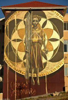 'Harvest' street art mural in Cape Town Street Art Love, Best Street Art, Urban Graffiti, Street Art Graffiti, Kunst Online, Online Art, Urbane Kunst, Street Art Photography, Art Base