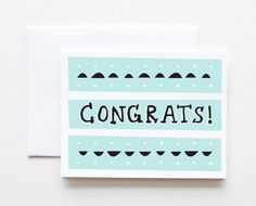 Deco Congrats Card