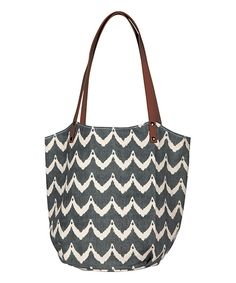 Look at this Charcoal Chevron Bucket Bag on #zulily today!