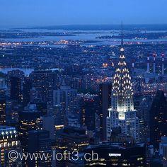 Blaue Stunde, Aussicht vom Empire State Building