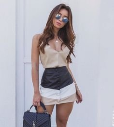 "368 Me gusta, 4 comentarios - ⠀⠀⠀⠀⠀⠀⠀⠀⠀⠀✨Get Inspired ✨ (@modaemakeup_) en Instagram: ""Inspiração do Dia❣️"" Skirt Outfits, Girly Outfits, New Outfits, Dress Skirt, Casual Outfits, Cute Outfits, Casual Clothes, Dress Fashion, Fashion Clothes"