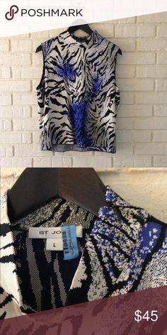 Rare and beautiful EUC St. John tank So pretty!  A classic piece!  Recently dry cleaned. St. John Collection Tops Tank Tops