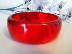 Prystal Jello Scarlet Red Bakelite Super by brandonsbakelite on Etsy