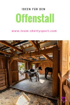 open stable A therapy- and pony-friendly open stable with paddock trail has been created - our exper Mini Horse Barn, Horse Barn Plans, Paddock Trail, Horse Paddock, Dream Stables, Dream Barn, Horse Barn Designs, Horse Shelter, Horse Care Tips