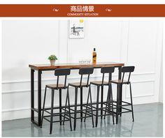 家用吧台桌客厅实木靠墙简约现代高桌子简易复古酒吧小吧台桌订制-tmall.com天猫