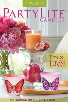 Winter/Spring 2016 catalog is available through July 30, 2016! #Candles #HomeDecor #DIYHomeDecor #BackyardIdeas #PartyLite