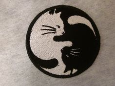 ying yang cats Iron on patch
