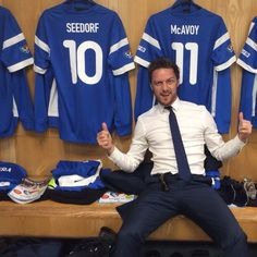 James McAvoy at the Soccer Aid charity match at the Old Trafford stadium in Manchester, England, on June 2014 James Mcavoy Michael Fassbender, Soccer Aid, Actors Funny, Charles Xavier, Scottish Actors, Star Photography, Interview, James Franco, Hot Hunks