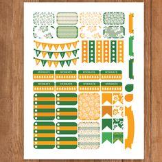 HAWAII Planner Stickers Printable Erin by PrintThemAllStudio