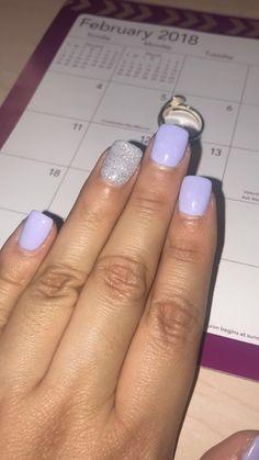 Lilac dipped nails