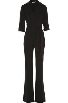 Diane von Furstenberg Stacy crepe wrap jumpsuit NET-A-PORTER.COM