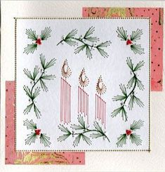 Free Paper Stitching Cards Patterns | ... gallery stitching card of the week | Prick And Stitch Is My Craft: