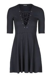 **Tie-Up Front Skater Dress by Glamorous Petites