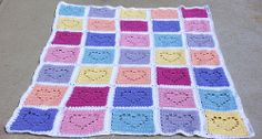 The Conversation Hearts Afghan looks like the little pastel candies that are so popular for Valentine's Day. Be Mine? UR Cute! This free crochet pattern is cute, and just for you!
