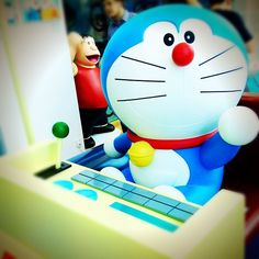It's Doraemon on his time traveling machine! Today is the 3rd of September, exactly 100 years before his birth in 2112. Happy Birthday, Doraemon!  #doraemon100 #harbourcity #hongkong #hkig - @munda28- #webstagram