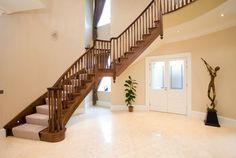 Nice curved staircase