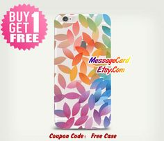Colorful Leaves Clear Phone Case for iPhone 6 6s by MessageCard