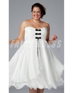 Black And White Wedding Dresses Plus Size - Wedding and Bridal Inspiration How To Dress For A Wedding, Two Piece Wedding Dress, Colored Wedding Dresses, White Wedding Dresses, Bridesmaid Dresses Under 100, Bridesmaid Dresses Plus Size, Bridesmaid Dress Colors, White Plus Size Dresses, Plus Size Outfits