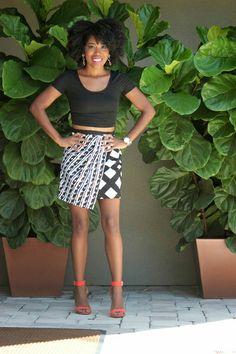 Peter Pilotto Asymmetrical Skirt + Crop Top Fashion To Live