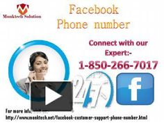 Why should I place a call at Facebook Phone number? 1-850-266-7017