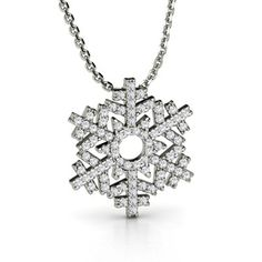 snowflake necklace for the winter timeee