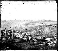 View of the battlefield, First Bull Run,  Virginia, July 1861 (Timeline of American Civil War)