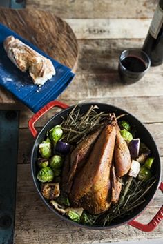 Hay Roasted Pheasant Recipe from Chef Josh Keeler of Two Boroughs Larder in Charleston, South Carolina.