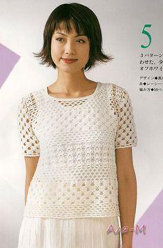 Blusa Croche - вязание крючком туника