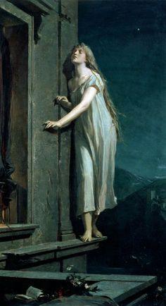 The Sleepwalker - Maximilian Pirner, 1878