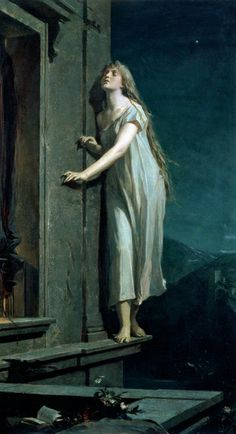 Fine Art Visual Therapy| Serafini Amelia| The Sleepwalker, Maximilian Pirner, 1878.