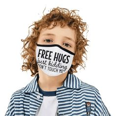 Free Hugs - Kidding - Don't touch me! Mouth Mask in One Piece (2 Filters Included) (Model M02) | ID: D5017773 Uk Fashion, Kids Fashion, Parody Videos, Mouth Mask Fashion, Ideal Image, Spanish Fashion, Mask Online, Dont Touch Me, Bahama Blue