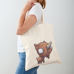 'Mutapet - Unigoat' Tote Bag by octolancers Large Bags, Small Bags, Cotton Tote Bags, Reusable Tote Bags, Medium Bags, Iphone Wallet, Are You The One, Chiffon Tops, Printed