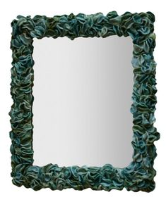 Sea Green Ceramic Mirror Contemporary, Transitional, Ceramic, Mirror by Kemble Interiors, Inc