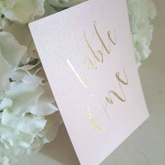 blush pink and gold foil table numbers 1-10 wedding table numbers card numbers