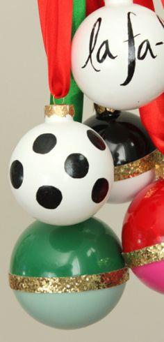 DIY ornaments - Kate Spade Knock-offs!