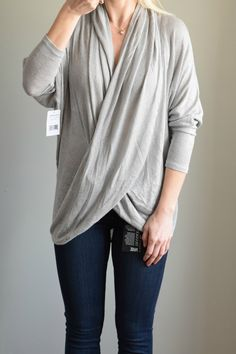 Trunk Club Review: Paige Denim and Free People Wrap Top |www.pearlsandsportsbras.com|