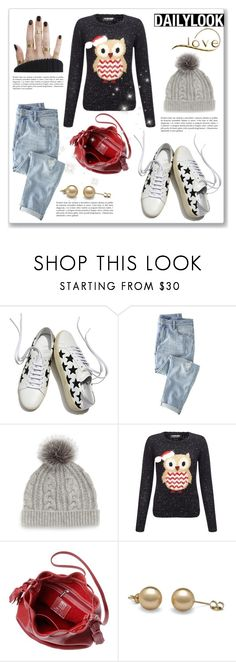 """""""Daily Look: Owl Sweater"""" by dressedbyrose ❤ liked on Polyvore featuring Yves Saint Laurent, Wrap, Sofia Cashmere and Lipsy"""