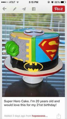 super hero and soccer cakes.The Best Superhero Birthday Cake Sweet Cakes, Cute Cakes, Beautiful Cakes, Amazing Cakes, Decoration Buffet, Superhero Cake, Cakes For Boys, Cake Creations, Creative Cakes