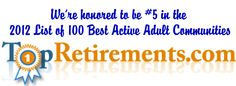TopRetirement.com 2012 Recognition!