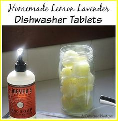Homemade Dishwasher Tablets save me a ton of money, smell divine, and gives me a sense of accomplishment and control over my choices. 5 ingredients!