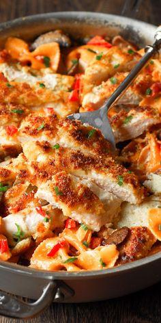 Louisiana Chicken Pasta, Cajun Chicken Pasta, Onion Chicken, Keto Chicken, Cajun Chicken Recipes, Mushroom Chicken, Bow Tie Chicken Pasta, Bell Pepper Chicken Recipes, Chicken Recipes For Lunch