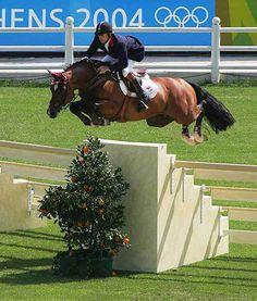 That's quite a jump! Nick Skelton and Arko III at the Athens 2004 Summer Olympics. I hope that this shall be me doing it one day. Not the Olympics but the jump!