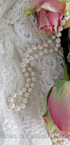 #pearls and #lace with #pink