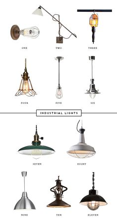 industrial lighting For a bathroom and outside - backyard.