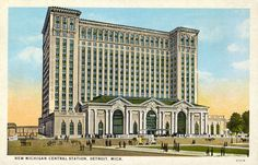 Postcard of the Michigan Central Station, c. 1915