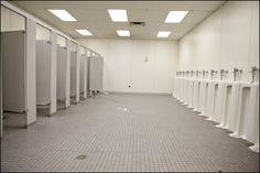 bathroom at the State Fair of Texas.