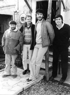 Da sx Lucio Dalla, Ron, Francesco De Gregori, Gianni Morandi nel 1978
