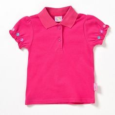 Hot pink girls shirt with flowers
